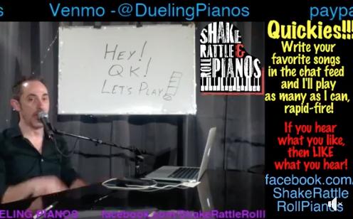 piano bar online show at Quarantine Karaoke facebook